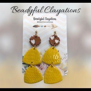 Polymer Clay Statement Earrings/Bridesmaid Earrings/Wedding Earring